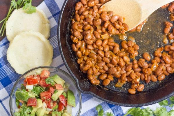 Sopes with Smoky Pinto Beans and Avocado Salsa