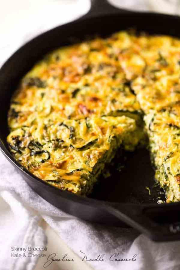 Zucchini Noodle Broccoli Cheese Casserole