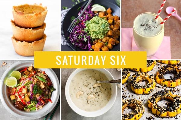 Saturday Six | Pumpkin Pie Cups, Butternut Squash Burrito Bowls & Vegan Cream of Mushroom Soup
