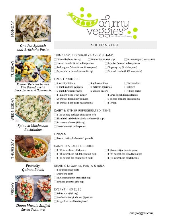 Vegetarian Meal Plan - 12.05.16