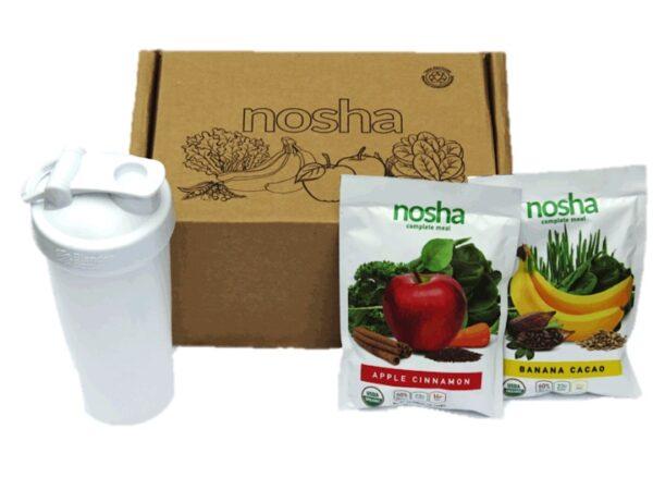 Nosha box green drink smoothies vegan plant based protein