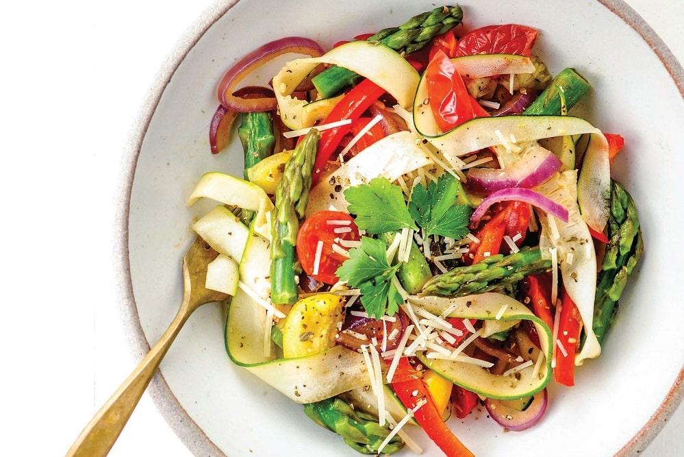 """Zucchini """"Pasta"""" Primavera"""