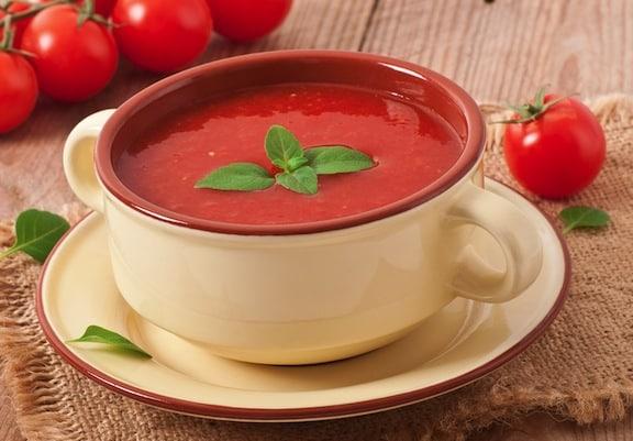 cold fresh tomato soup