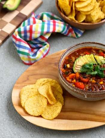 Vegan Three-Bean Quinoa Chili