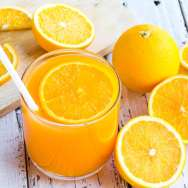 Be cut to remove the orange juice to drink and eat and be healthy.