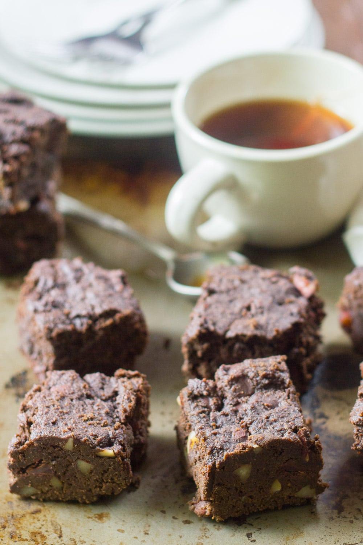Mocha, Almond & Chocolate Chunk Brownies