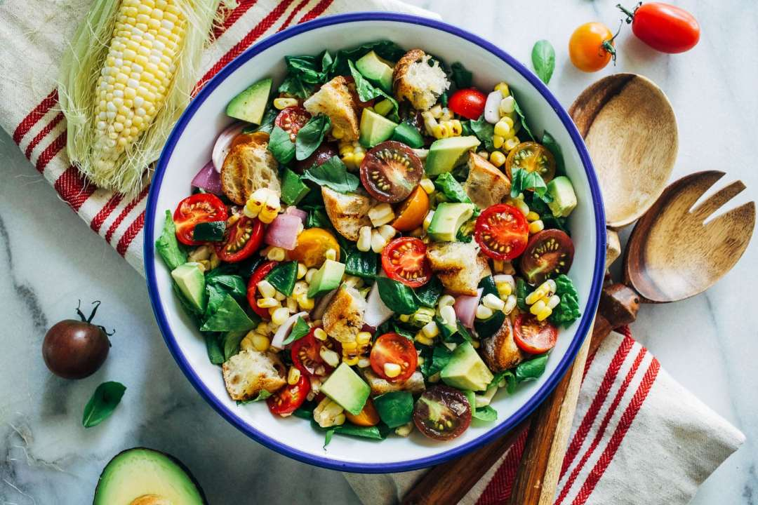 15 of the Best Vegetarian Grilling Recipes: Grilled Corn Poblano Panzanella