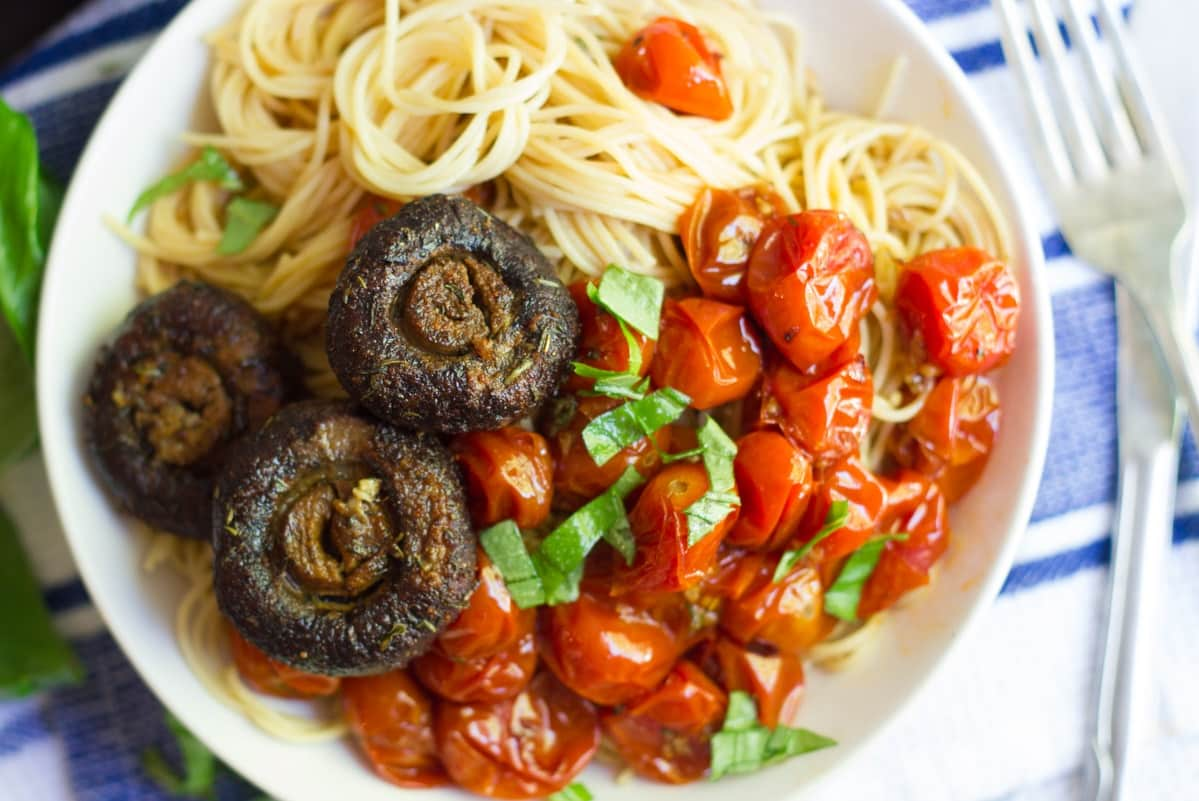 Cappellini with Burst Cherry Tomatoes