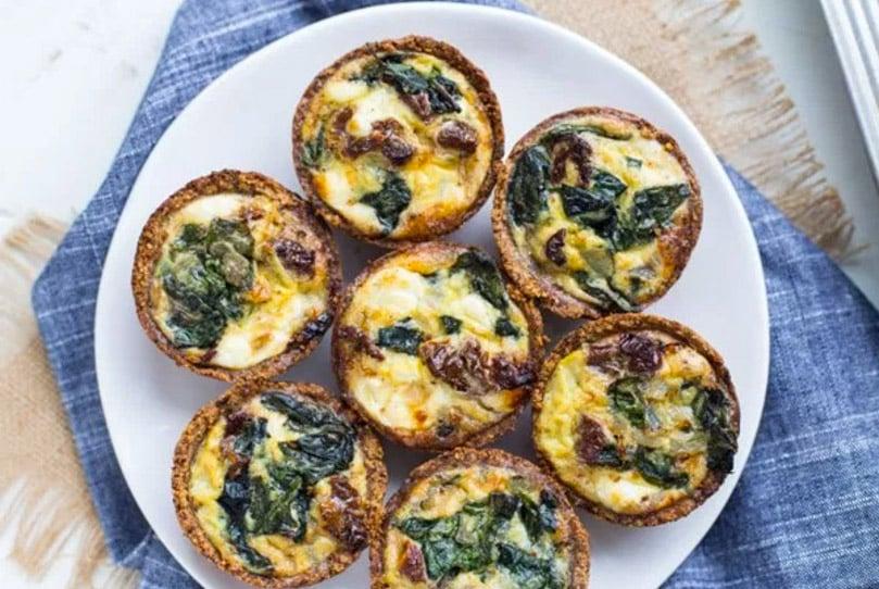 17 Creative Quiche Recipes: Spinach Goat Cheese Mini Quiches