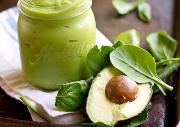 20 Healthy Green Smoothie Recipes: Avocado Green Smoothie