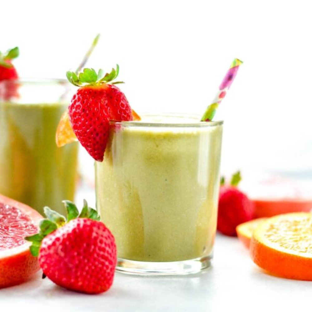 20 Healthy Green Smoothie Recipes: Citrus Protein Green Smoothie