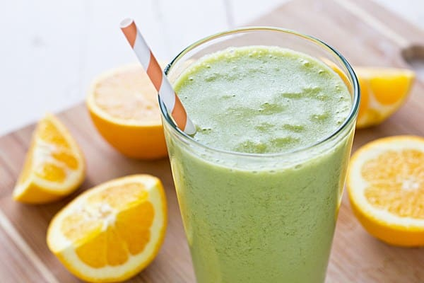20 Healthy Green Smoothie Recipes: Green Orange Dreamsicle Smoothie