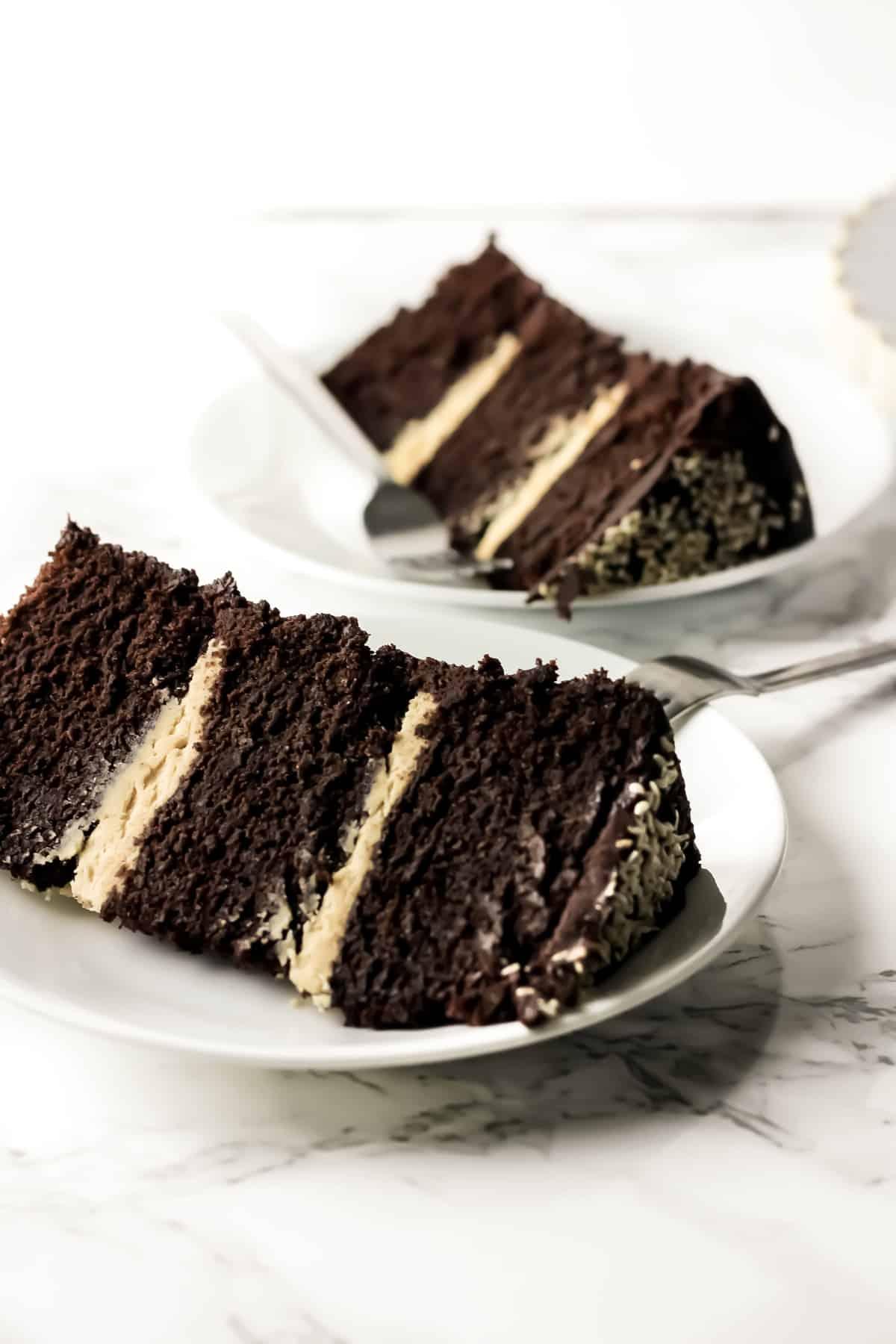25 Drool-Worthy Chocolate Cake Recipes: Chocolate Tahini Layer Cake