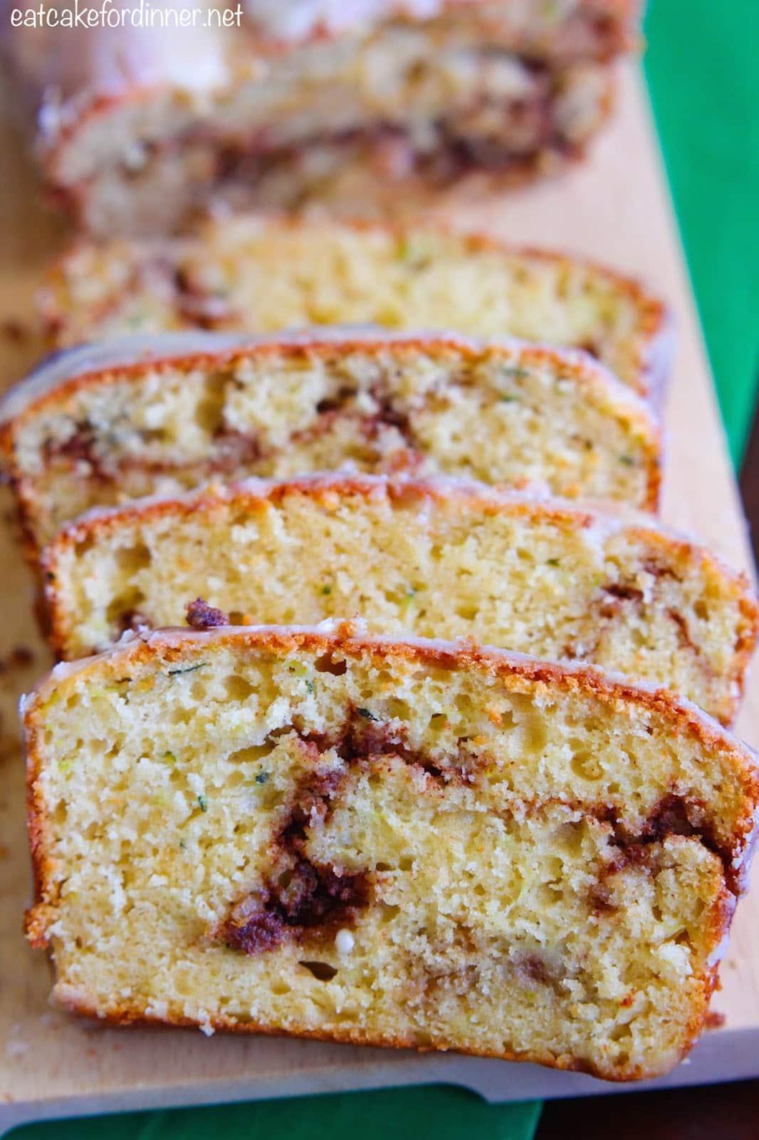 18 Zucchini Bread Recipes Everyone Will Love: Cinnamon Roll Zucchini Bread
