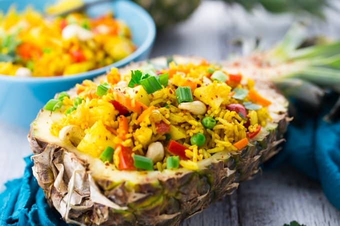 18 Best Easy Vegetarian Recipes: Pineapple Fried Rice