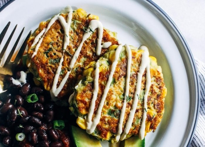 Healthy Zucchini Corn Fritters