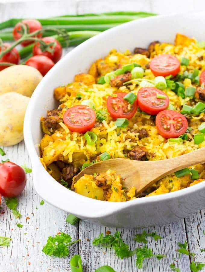26 Creative and Delicious Turmeric Recipes: Vegetarian Breakfast Casserole