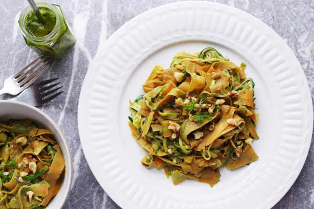 What To Do With Carrot Greens,10 Inspiring Ideas: Carrot Top Pesto with Vegetable Noodles
