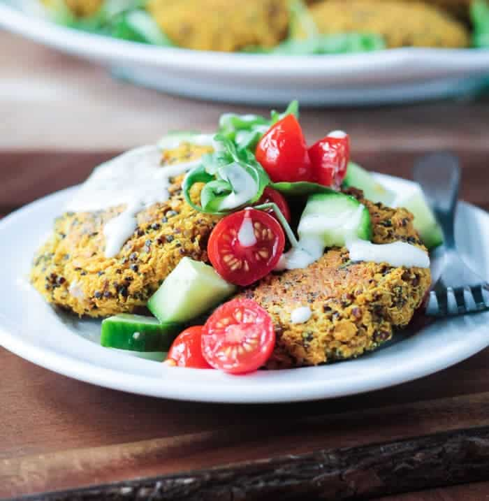 26 Creative and Delicious Turmeric Recipes: Baked Red Lentil Quinoa Fritters