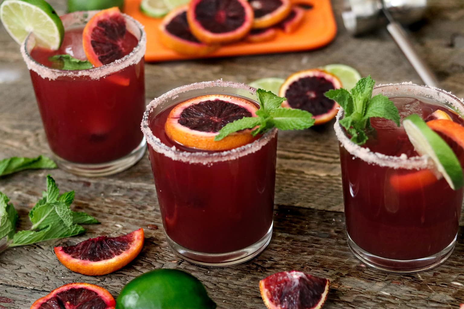 Refreshing Margarita Recipes to Cool You Down This Summer: Blood Orange Margaritas