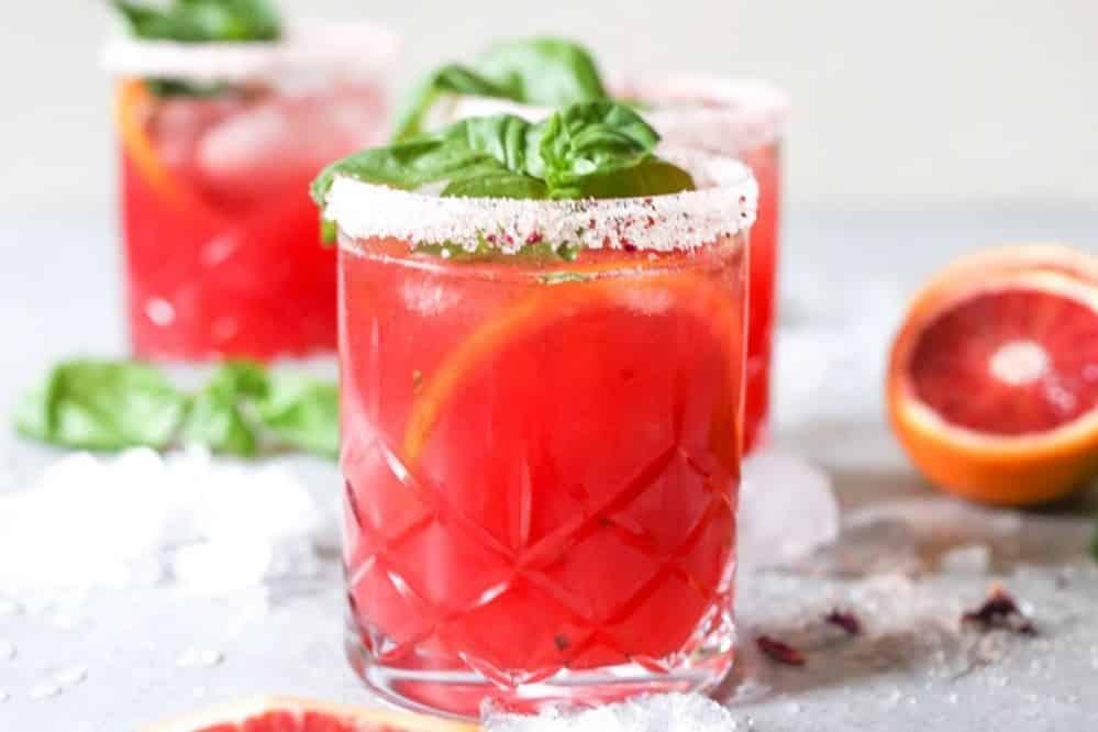 15 Refreshing Margarita Recipes to Cool You Down This Summer: Skinny Blood Orange Basil Margaritas