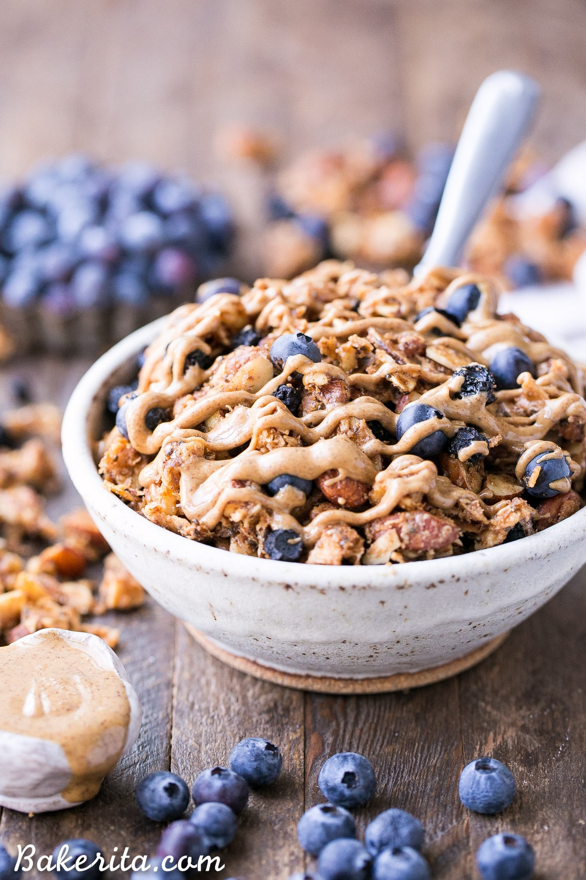 18 Irresistible Recipes for Homemade Granola: Blueberry Almond Butter Grain-free Granola