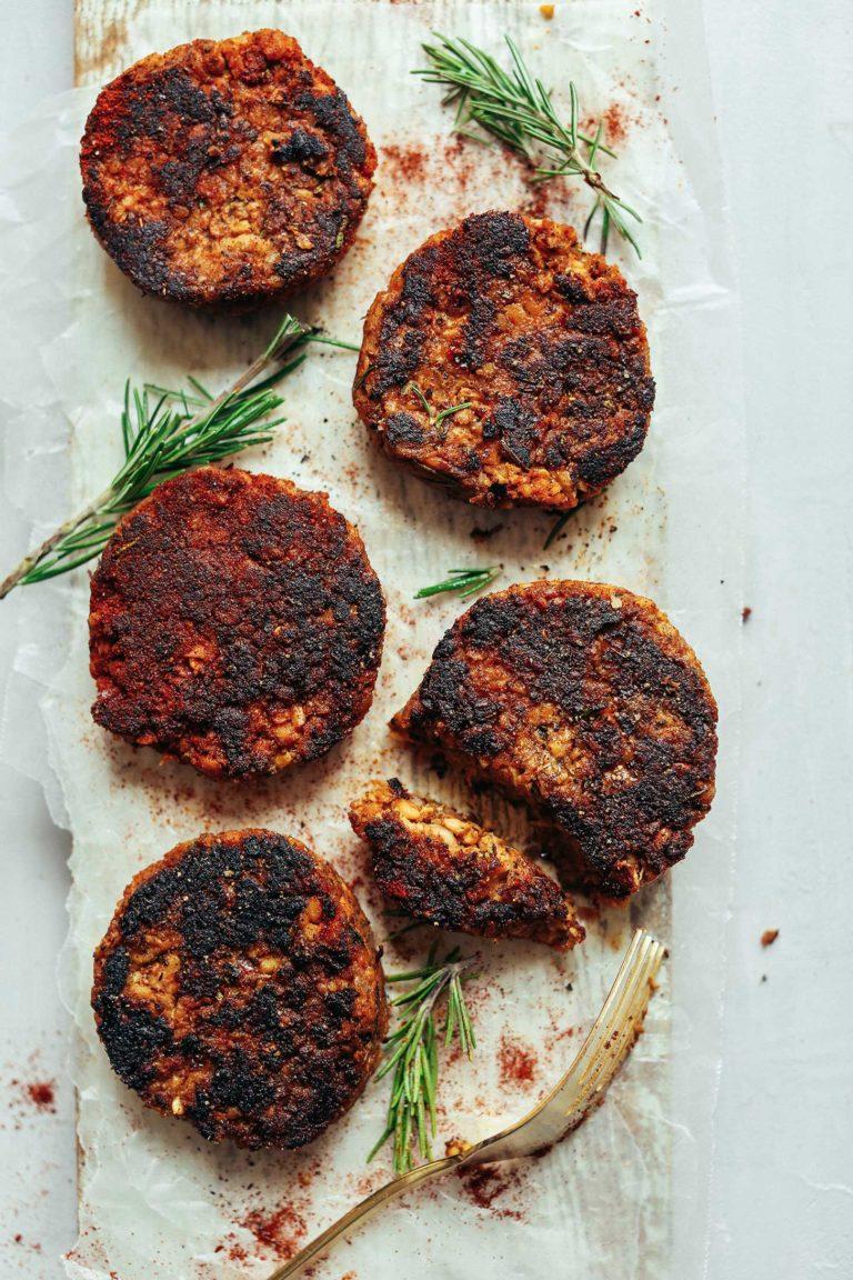 49 Savory Vegan Breakfast Recipes: Spicy Vegan Tempeh Sausage