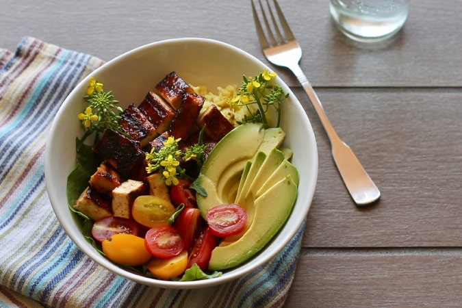 Barbecue Tofu Bowls