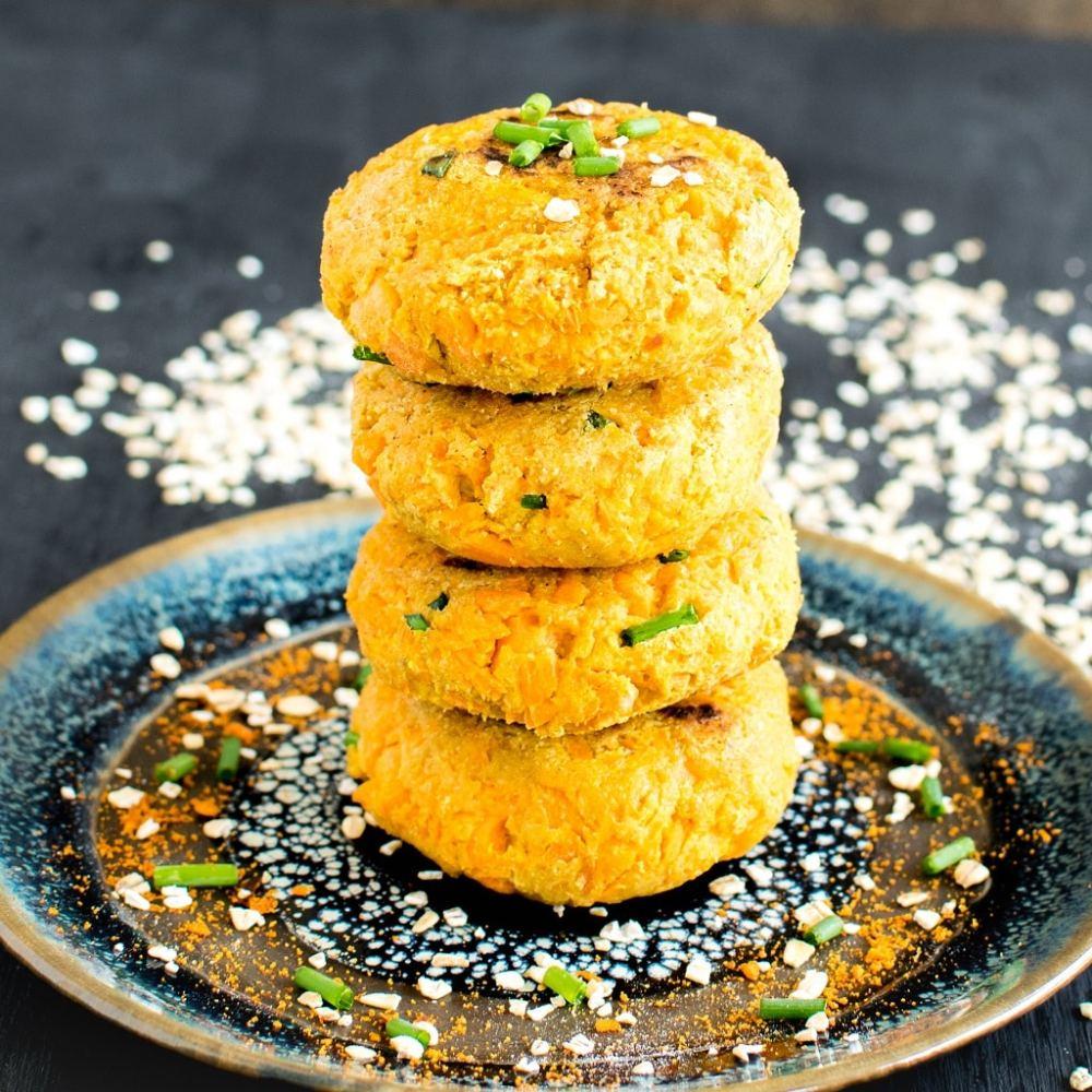 49 Savory Vegan Breakfast Recipes: Carrot Oatmeal Breakfast Patties