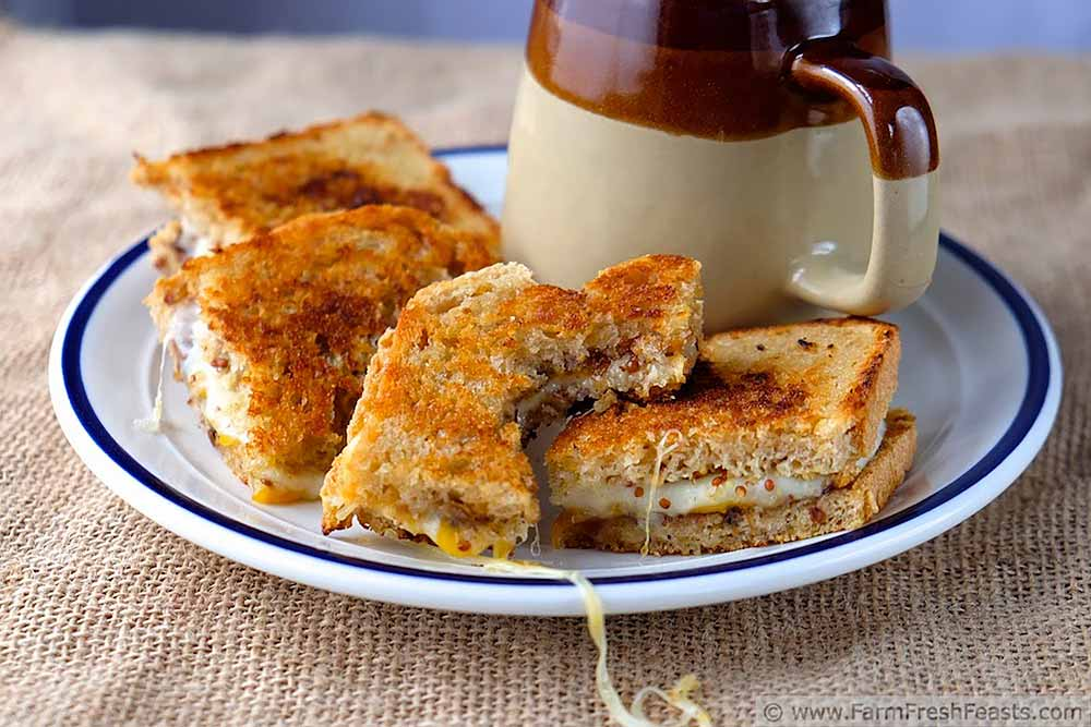 21 Mind-Blowing Grilled Cheese Sandwich Recipes: Grilled Cheese with Cheddar, Havarti and Apple Fig Chutney