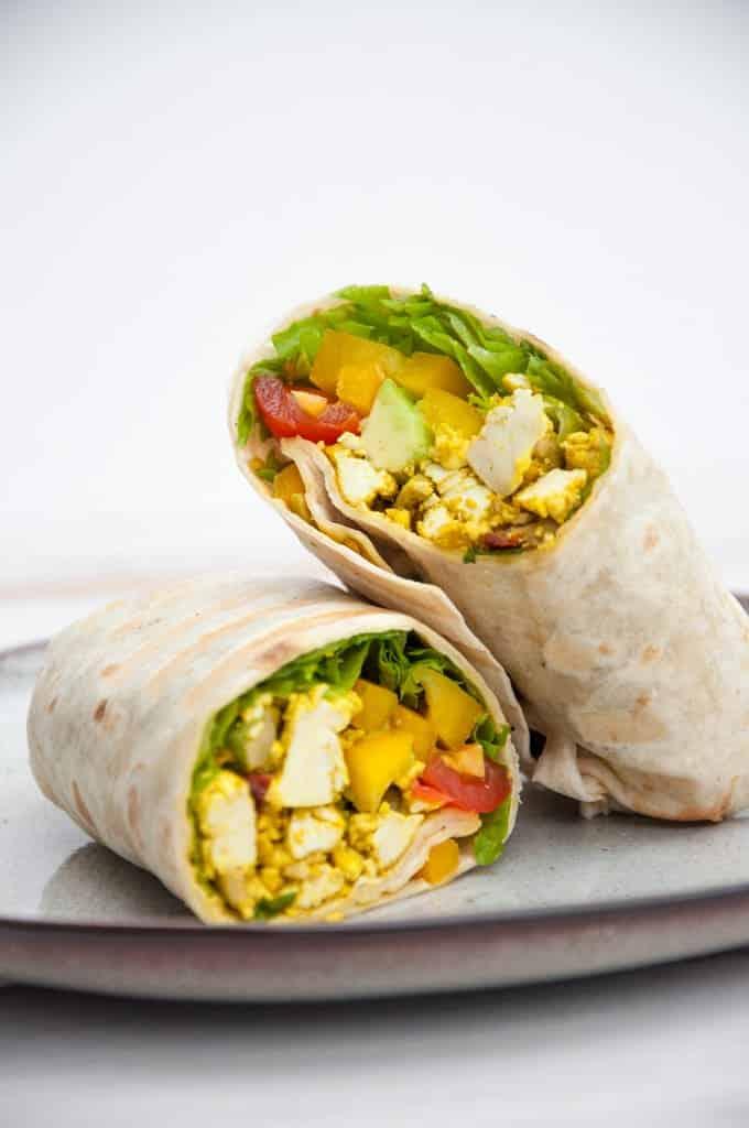 49 Savory Vegan Breakfast Recipes: Mediterranean Breakfast Burrito