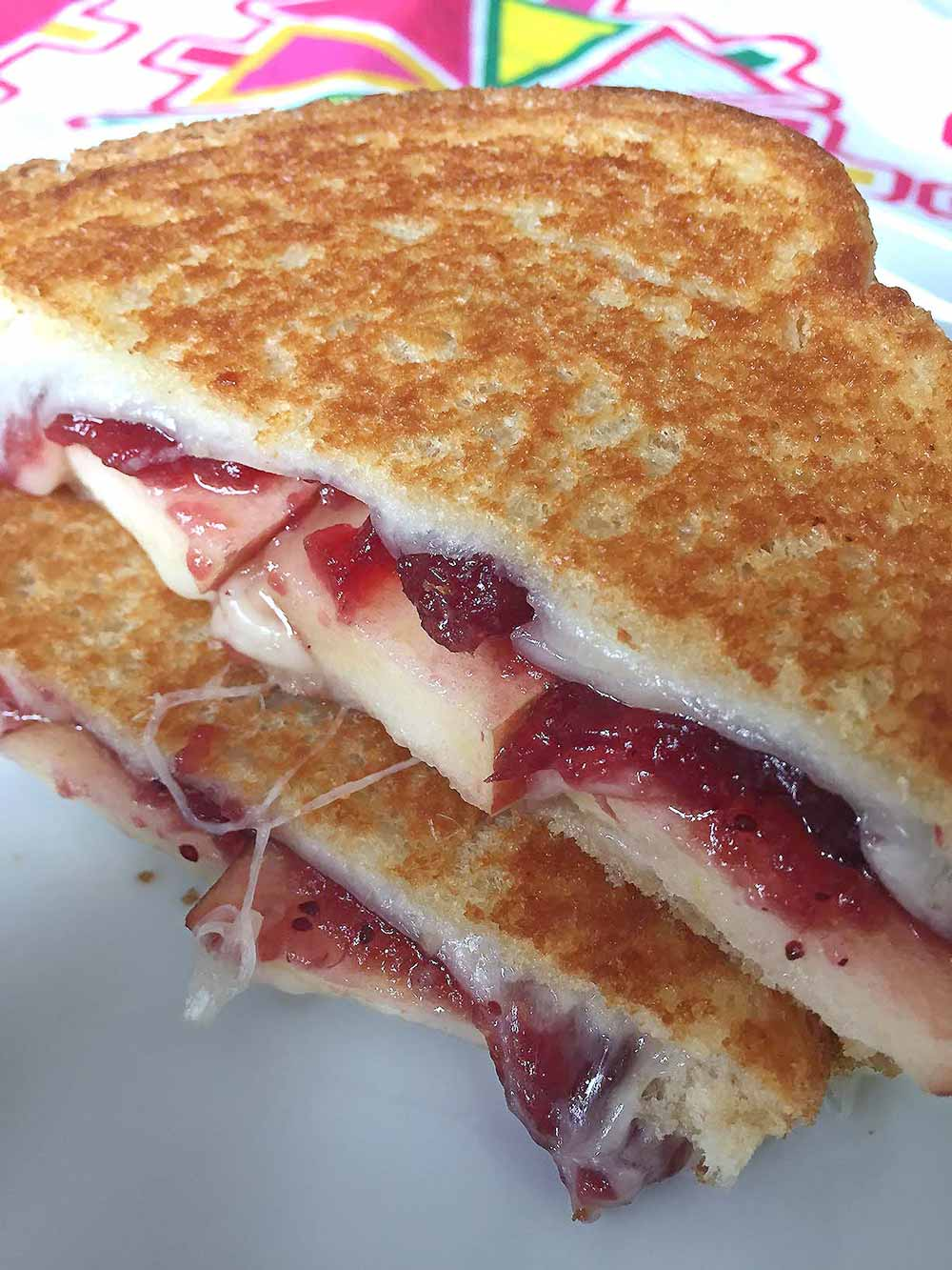 21 Mind-Blowing Grilled Cheese Sandwich Recipes: Apple Cranberry Grilled Cheese Sandwich Recipe