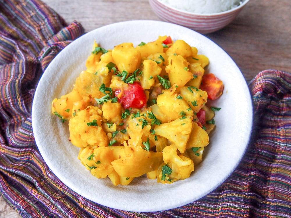 Spiced Potato and Cauliflower