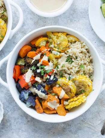 Vegetarian Sheet Pan Dinner | OhMyVeggies.com