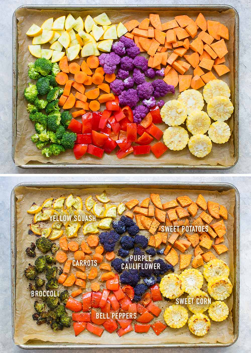 Vegetarian Sheet Pan Dinner | OhMyVeggies.com
