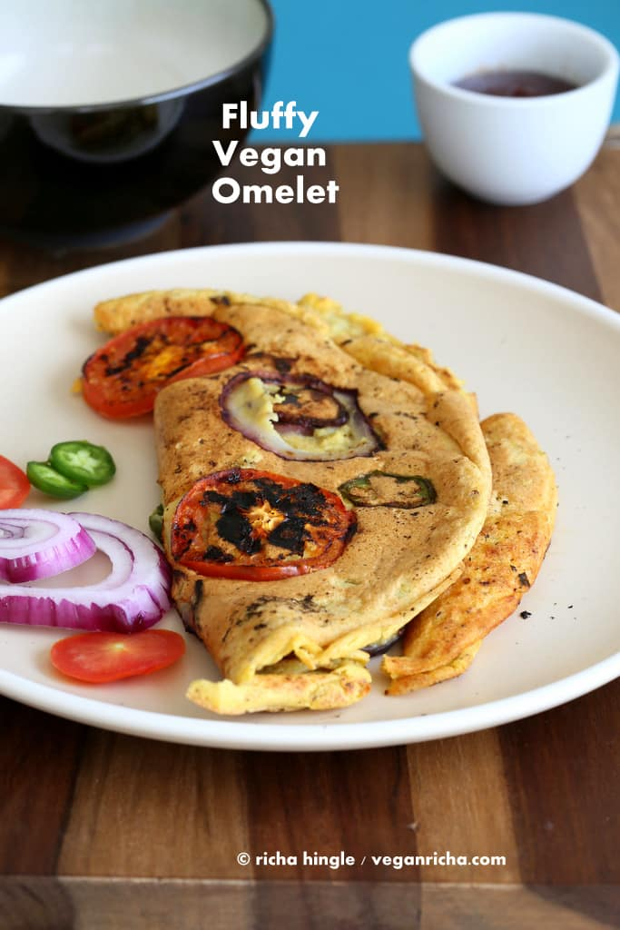 15 Irresistible Vegetarian Omelets to Make for Breakfast: Vegan Omelette Eggless with Chickpea Flour