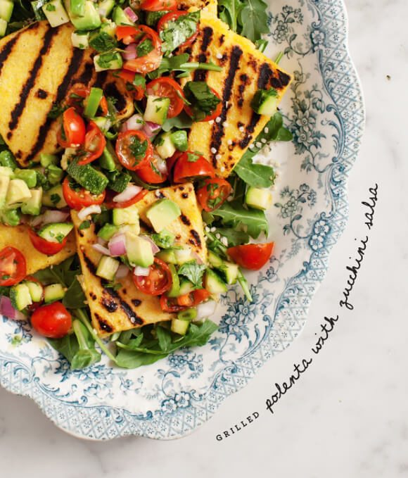 17 Delicious Vegetarian Dinners You Can Make with a Tube of Polenta: Grilled Polenta