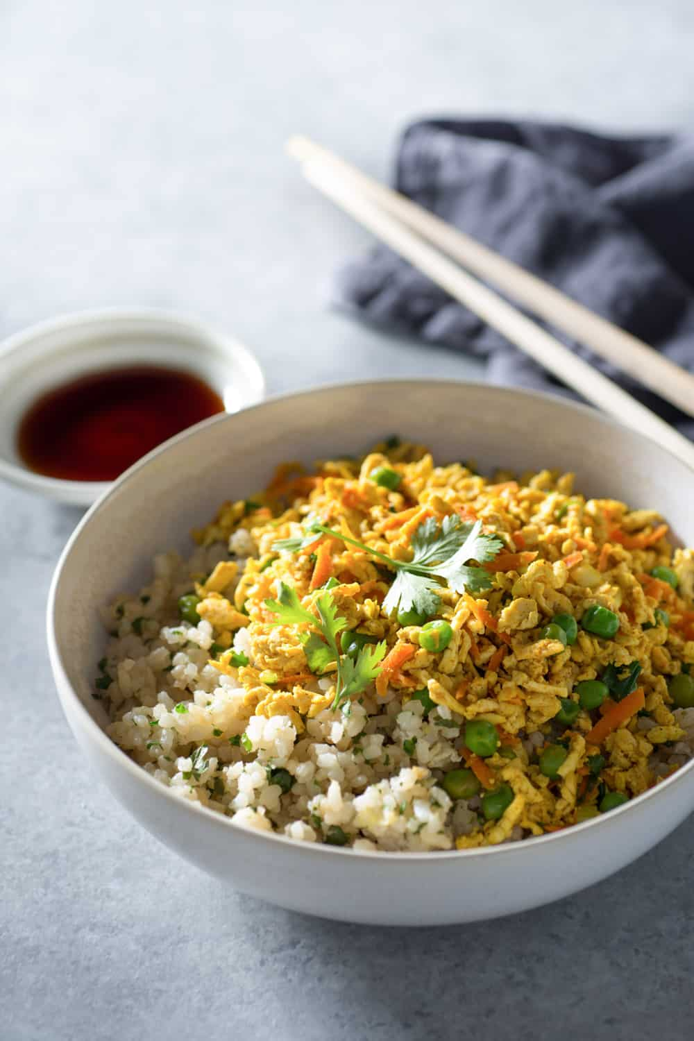Curried Tofu Hash with Cilantro Fried Rice