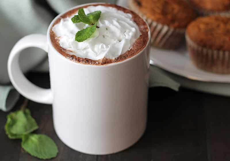 15 Vegan Hot Chocolate Recipes Everyone Will Love: Decadent Peppermint Hot Chocolate