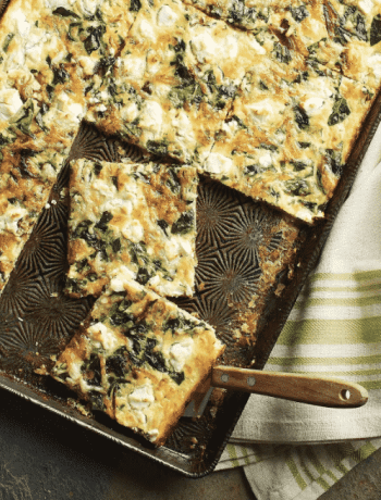 Slab Quiche Recipe from Sheet Pan Suppers Meatless