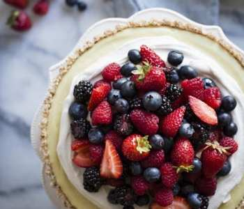 No-Bake Lemon Berry Coconut Tart
