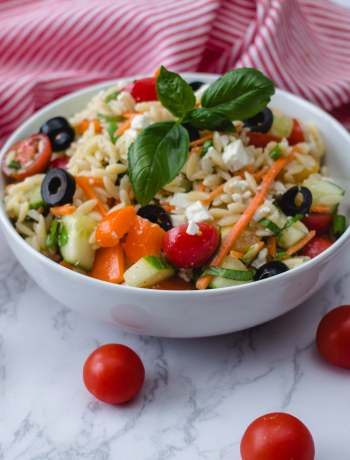 Vegetarian Colorful Orzo Salad