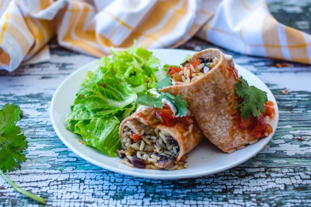 Vegetarian Red Beans and Rice Burritos