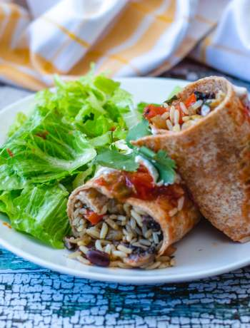 Vegetarian Red Beans and Rice Burritos