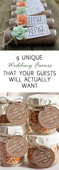 9 Unique Wedding Favors that Your Guests Will Actually ...
