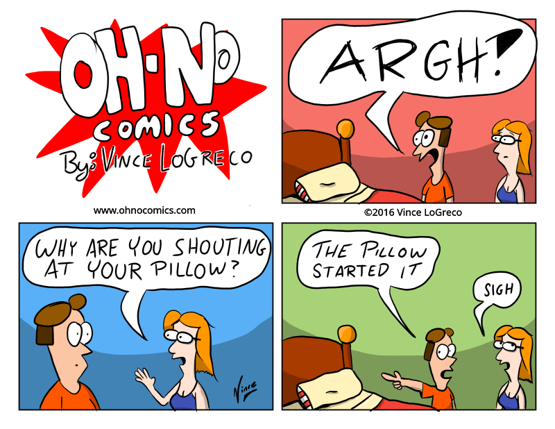 inspired by my four year old shouting at her pillow.
