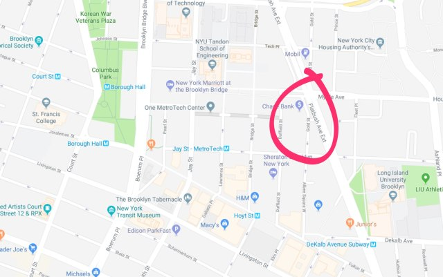 Map of Gold Street to be renamed