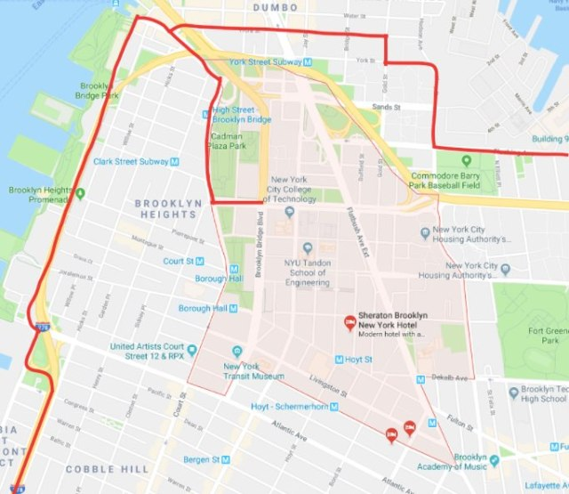 TB Five Boro Bike Tour 2018 Google Map