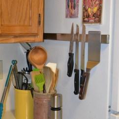Magnetic Kitchen Knife Holder Remodels Before And After Made By J: Ikea Refrigerator Hack | Plip