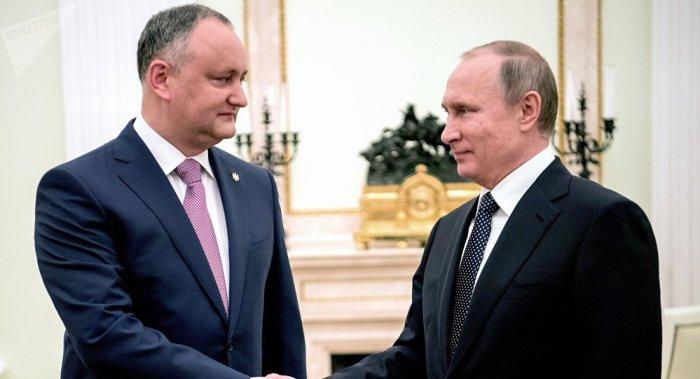 Dodon y Putin